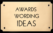 Employee Recognition Award Wording Ideas