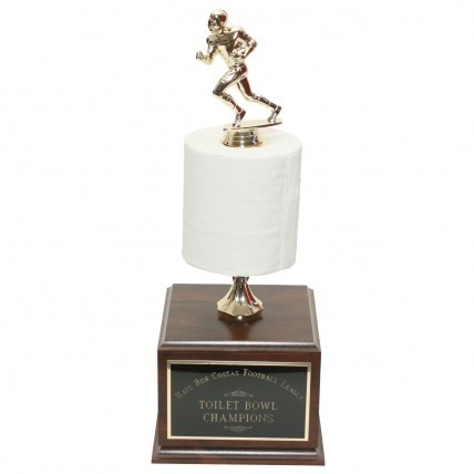 Perpetual Football Toilet Paper Trophy