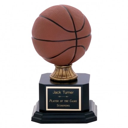 Personalized Full-Color Basketball Trophies