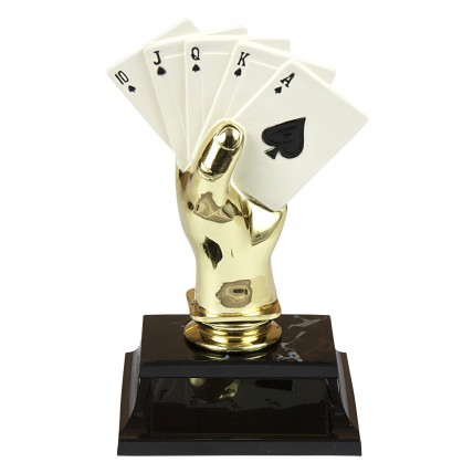 Colored Cards Poker Hand Trophy