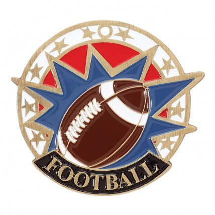 Patriotic Burst Football Medallion