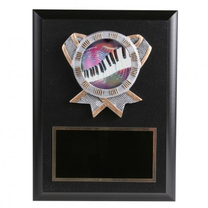 Rainbow Piano Resin Plaque