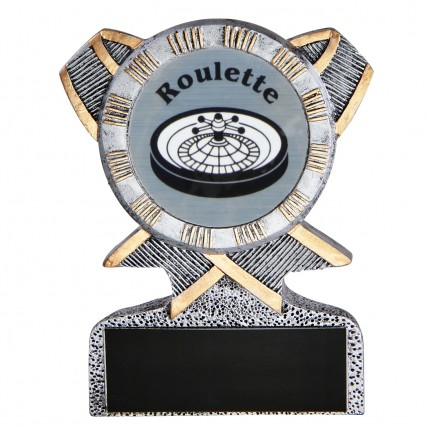 Champion Roulette Resin Trophy