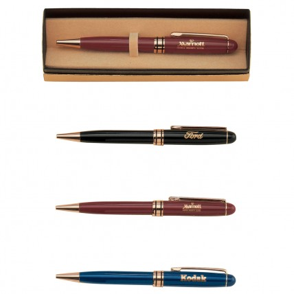 Colorful Etched Brass Pens with Case