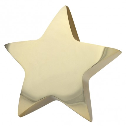 Gold Star Paperweight with Engraving