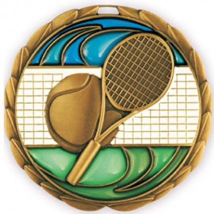 Ball and Racket Tennis Medallion