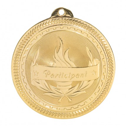 Gold Participation Torch Medallion