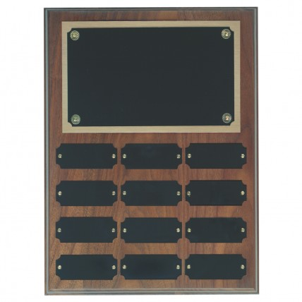 Perpetual CorporateWalnut Wall Plaque - 12 plates