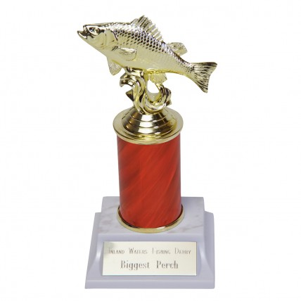 Big Catch Perch Trophy with Customizable Column