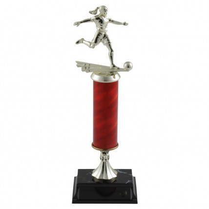Tall Column Ladies Soccer Trophies