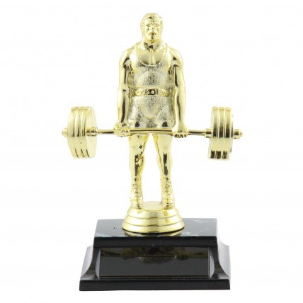 Basic Golden Powerlifter Trophies