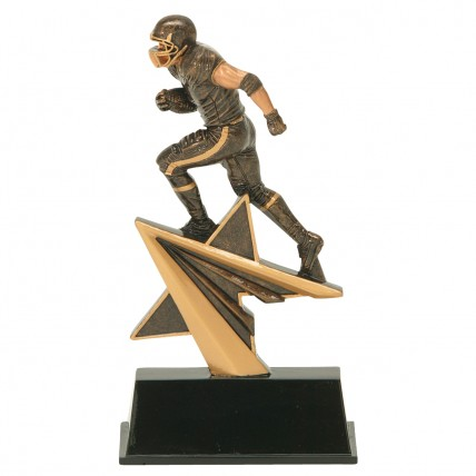 Star Power Football Resin Award