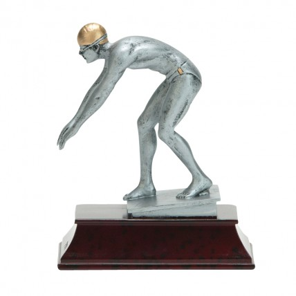Modern Resin Men's Swimming Trophy