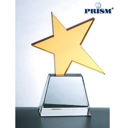 Ultimate Golden Star Crystal Recognition Trophy