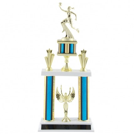 Deluxe Female Basketball Tournament Trophy - 19.5""