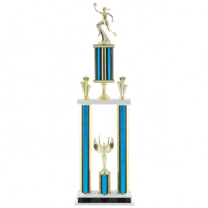 Deluxe Female Basketball Tournament Trophy - 28.5""