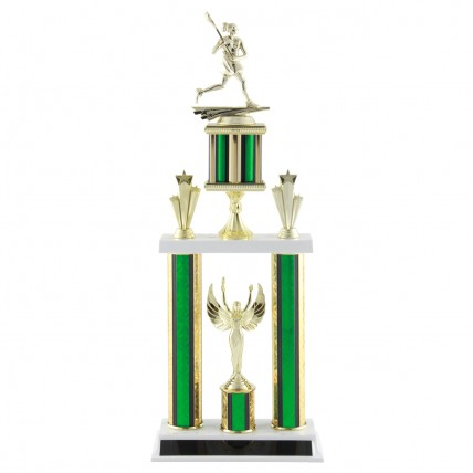 Deluxe Female Lacrosse Tournament Trophy - 21.5""