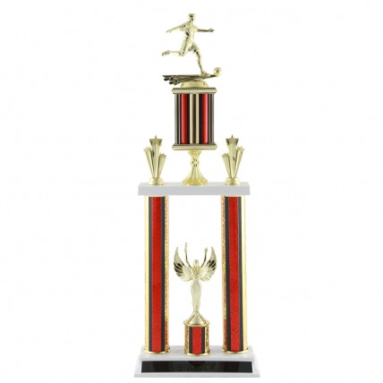 Deluxe Male Soccer Tournament Trophy - 24.5""