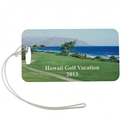 Color 2-Sided Bag Tags - vacation