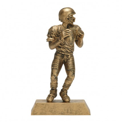 Fantasy Football Quarterback Resin Trophies - Gold