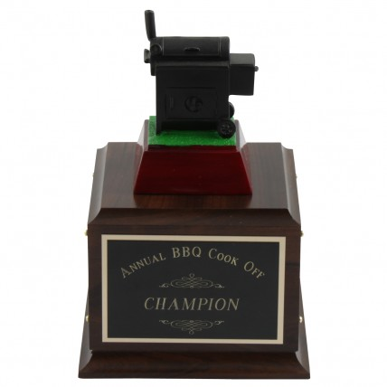 Cook Off Perpetual BBQ Trophy - Front View