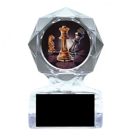 Action Chess Acrylic Star Trophy