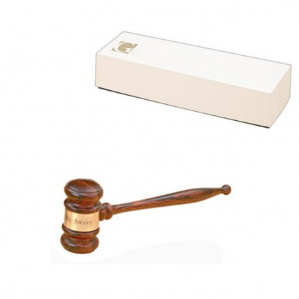 Imported Solid Rosewood Chairperson's Gavel