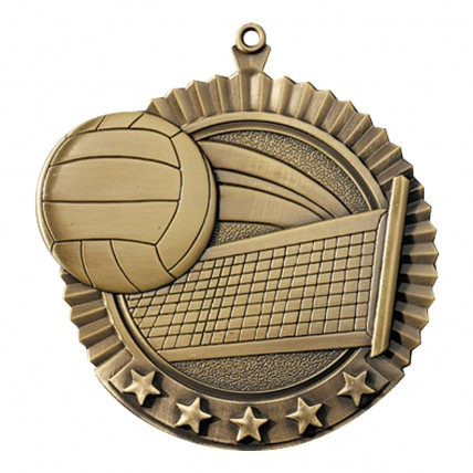 Value Volleyball Medals - gold