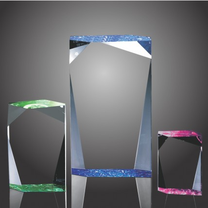 Faceted Stand Up Color Acrylic Trophy
