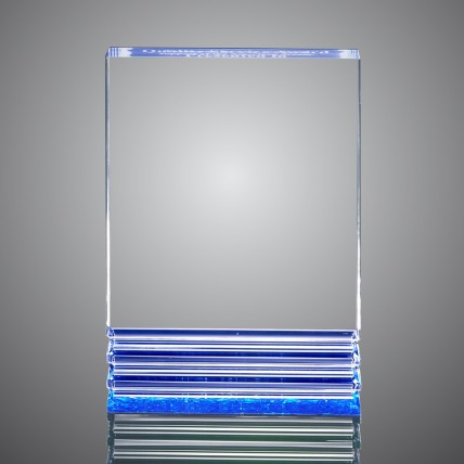 Triple Fluted Edge Acrylic Plaques - Blue
