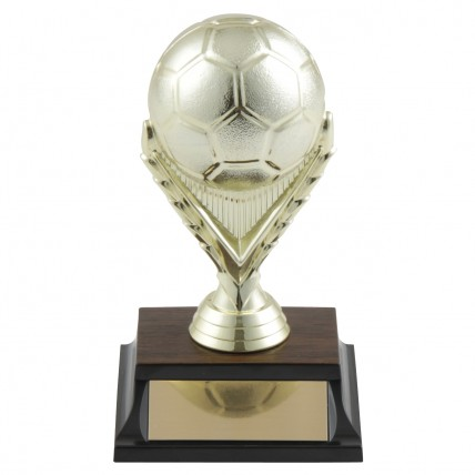 Heavy 3-D Gold Soccer ball Trophies