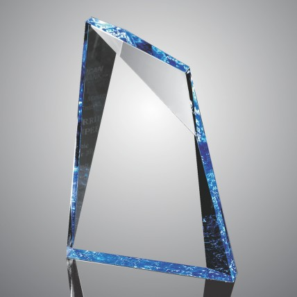 Faceted Mountain Cut Acrylic Trophies