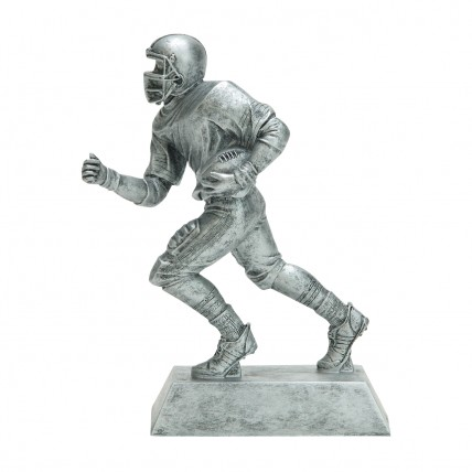 Silver Running Back Football Resin Trophy