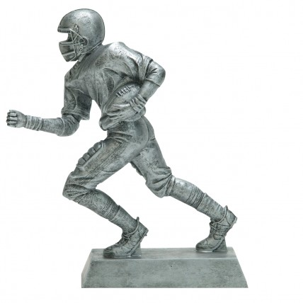 Large Silver Runningback Resin Awards