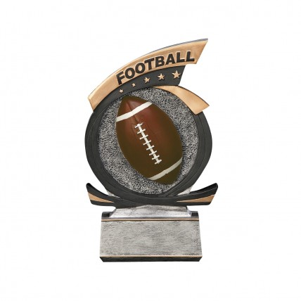3D Football Classic Resin Trophy