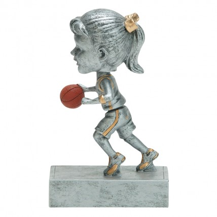 Youth Girl Basketball Bobblehead Award Trophy