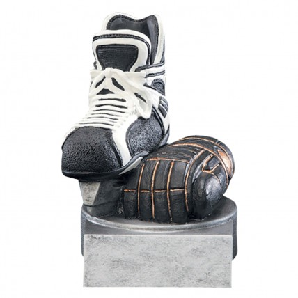 Color Skate and Glove Hockey Resin Award