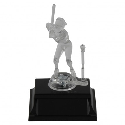 Girl Clear T-Ball Trophies