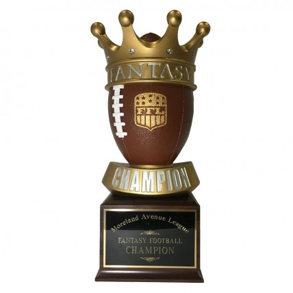 King of the League Perpetual Fantasy Football Trophy