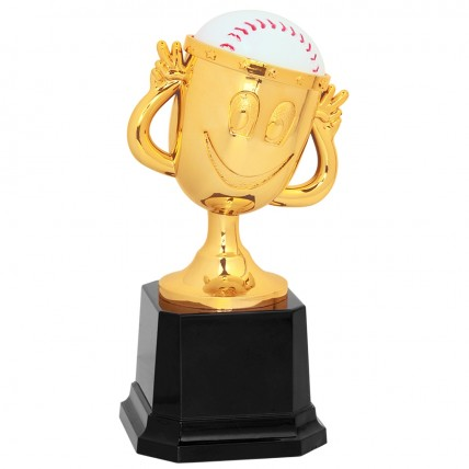 Happy Cup Baseball Trophy