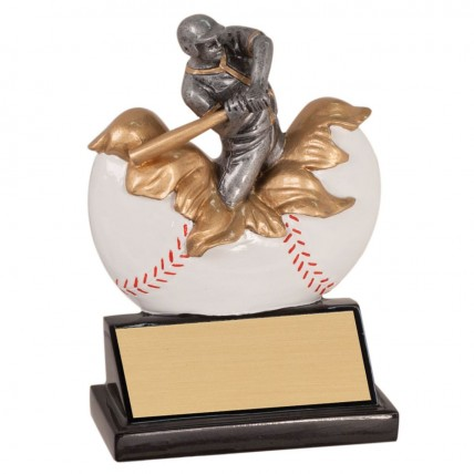 Xploding Color Baseball Resin Trophies