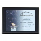 Black Certificate Plaque with Glass Front