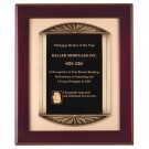 Bronze Cast Rosewood Frame Plaque