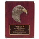 Eagle's Head Rosewood Plaque