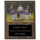 Personalized Picture Holder Plaque - Walnut