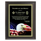 Patriotic Eagle and Flag Plaque