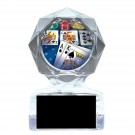 Clear Geometric Poker Acrylic Awards