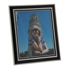 Black and Silver Engraved Picture Frame