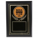 Custom Logo Engraved Plaque - Mustache Club