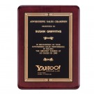 Piano Finish Rosewood Recognition Award Plaque